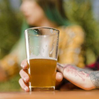 vaso irrompible cerveza